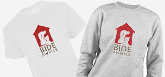 Buy your own Bide Awhile merchandise!